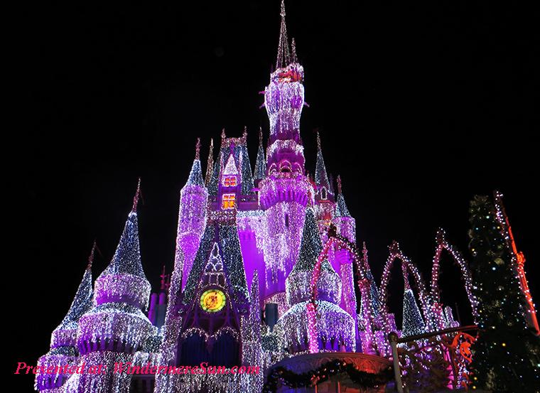 Disney at Magic Kingdom, pink-white-and-purple-light-up-disneyland-castle-771502 final