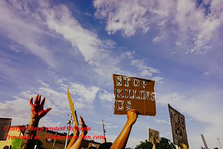 Geoerge Floyd protest Orlando-2 final
