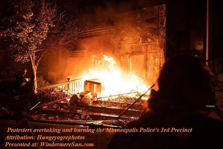 Protesters overtaking and burning the Minneapolis Police's 3rd Precinct, PD final