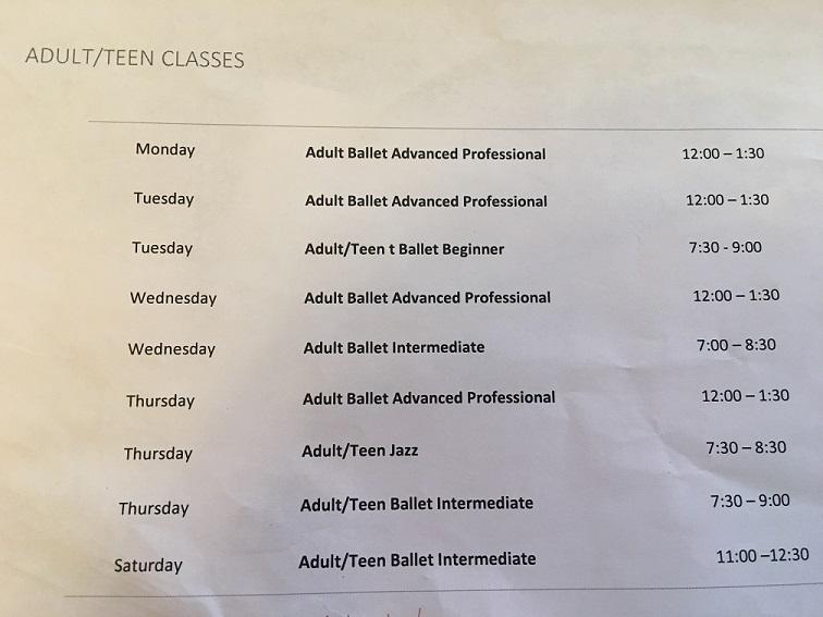 Orlando Ballet School South Campus Adult-Teen class schedule at 7988 Via Dellagio Way, Suite 204., Orlando, FL final
