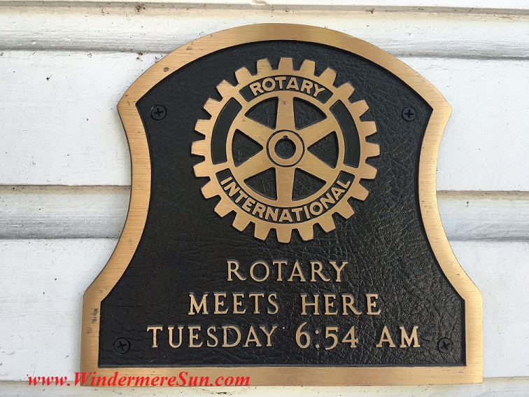 Art Show of Winderpere Prep School 2016-Rotary International Meets Here sign final