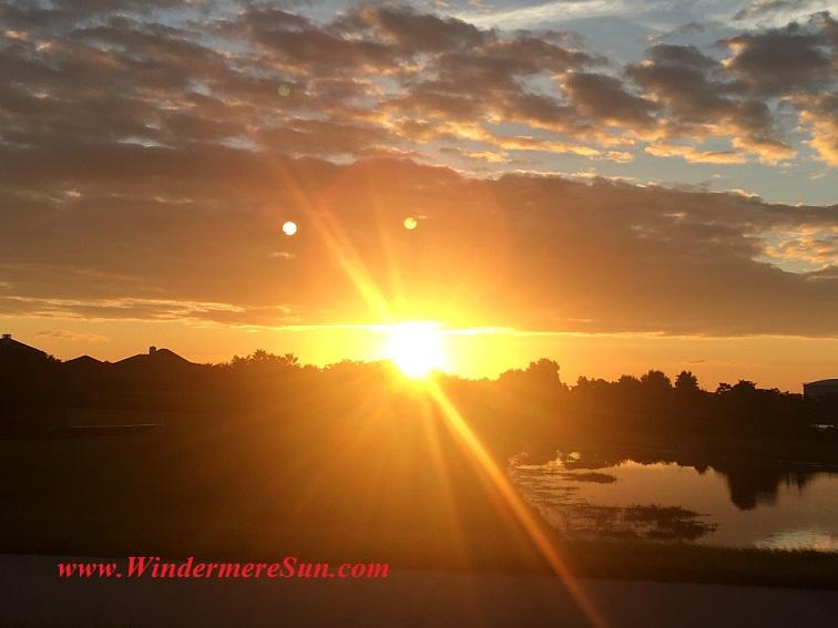 Sunset-sun rays intense center final