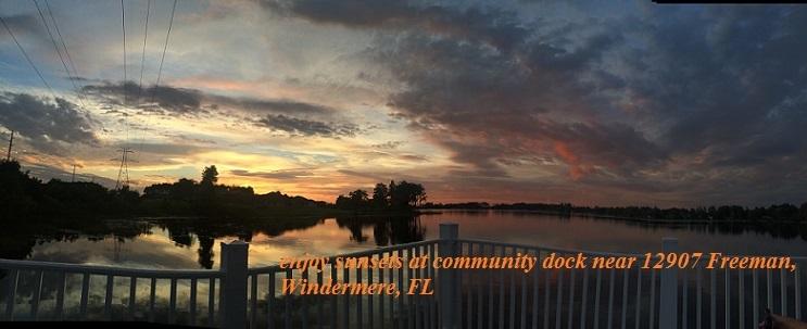 Windermere Sunset Pan8 community dock near 12907 Freeman final