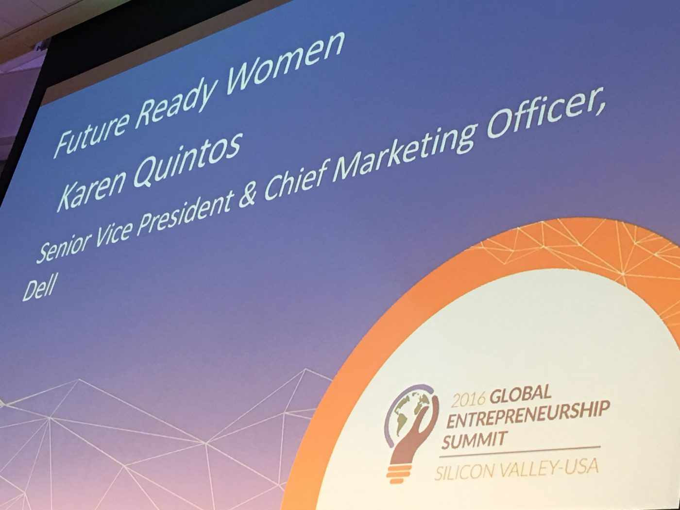 GES2016-Future Ready Women sign