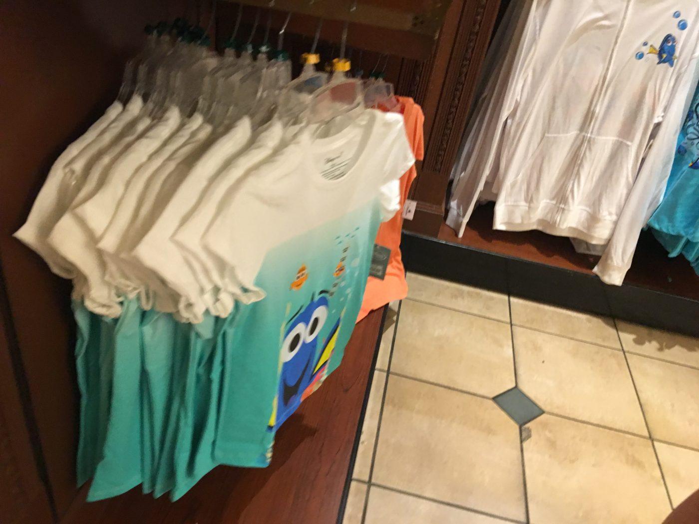Disney-MagicKingdom-inside giftshop, Dory shirts