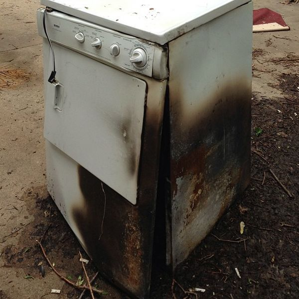 Dryer-Clothes-dryer-damaged-by-fire, Jerry7171 on Flickr, creative commons