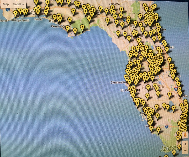 Vote Early map of Florida final