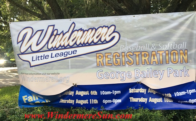 Windermere Little League banner final