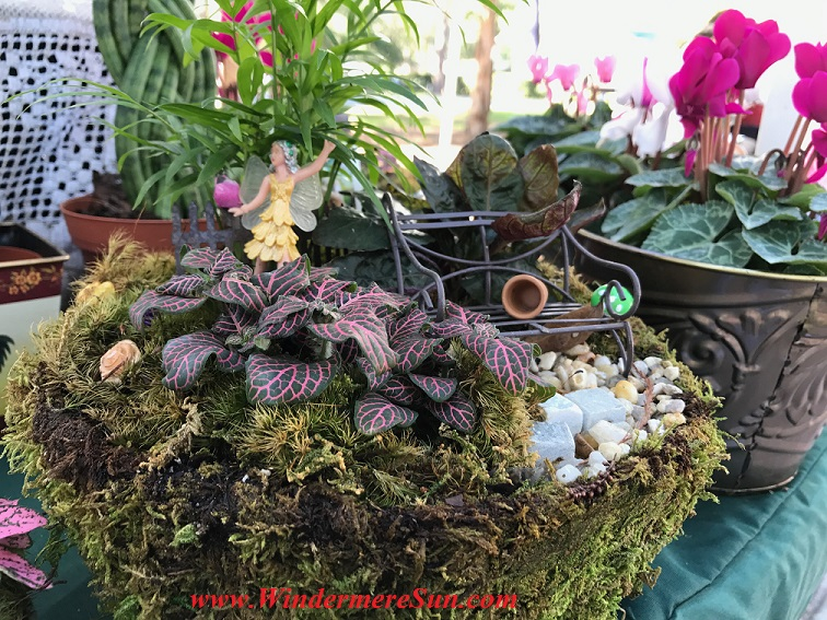 Mossy ceramic planter with fairy final