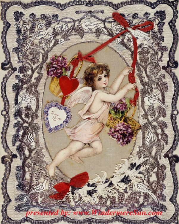 English Victorian era Valentine card in the Museum of London final