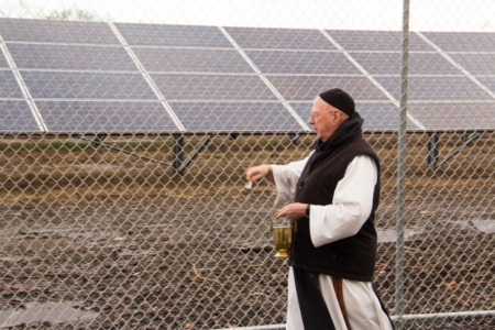 Solar Farm of Mt. St. Mary's Abbey blessed by Father Kevin