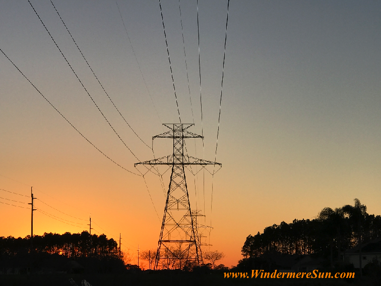 Sunset w powerline tower 1