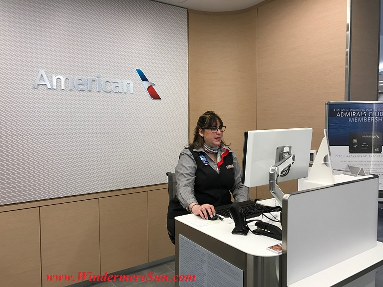 American Airline Admirals Club front desk w membership sign final