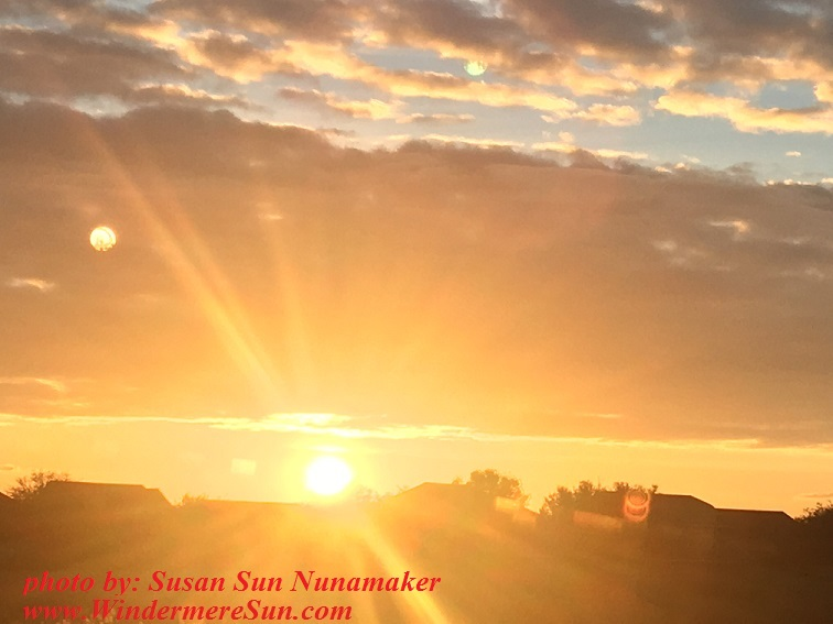Sunset-sun rays intense, by Susan Sun Nunamaker, final
