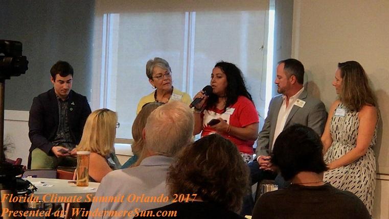 Michelle Suarez of Organize Florida at Florida Climate Summit Orlando 2017 final