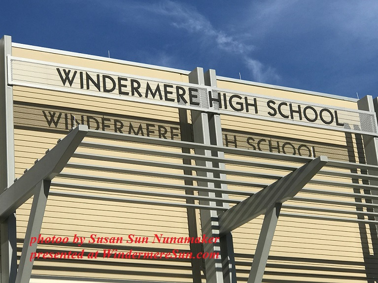 Windermere High School sign final