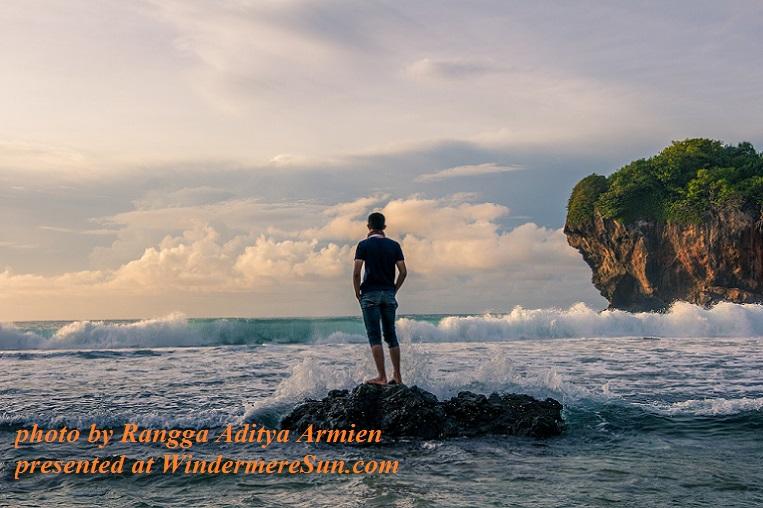 man standing on stone watching ocean wave-pexels-photo-204495, by Rangga Aditya Armien final