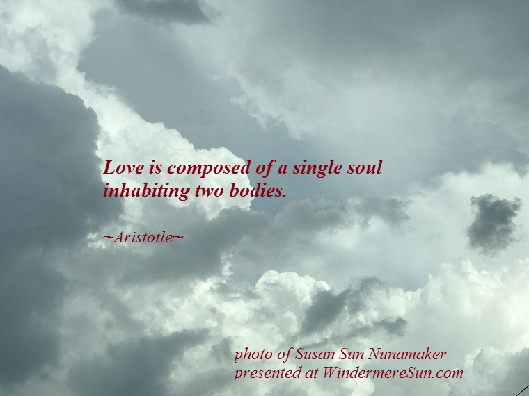Cloud, Love is, quote of 1-13-2018 final