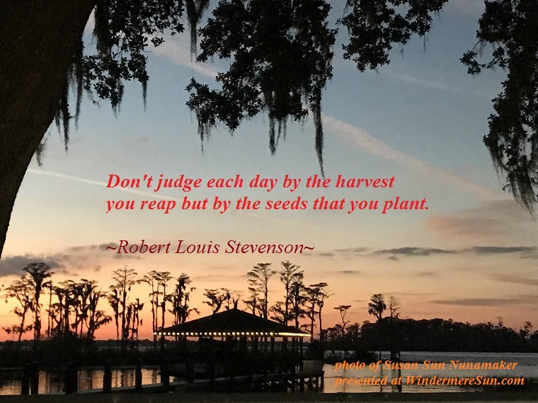 Don't judge each day by...., quote of Robert Louis Stevenson, quote 1-6-2018 final final