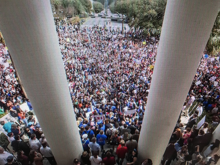 Florida students and activists at the old Capitol in Tallahassee, FL on Feb. 21, 2018 final