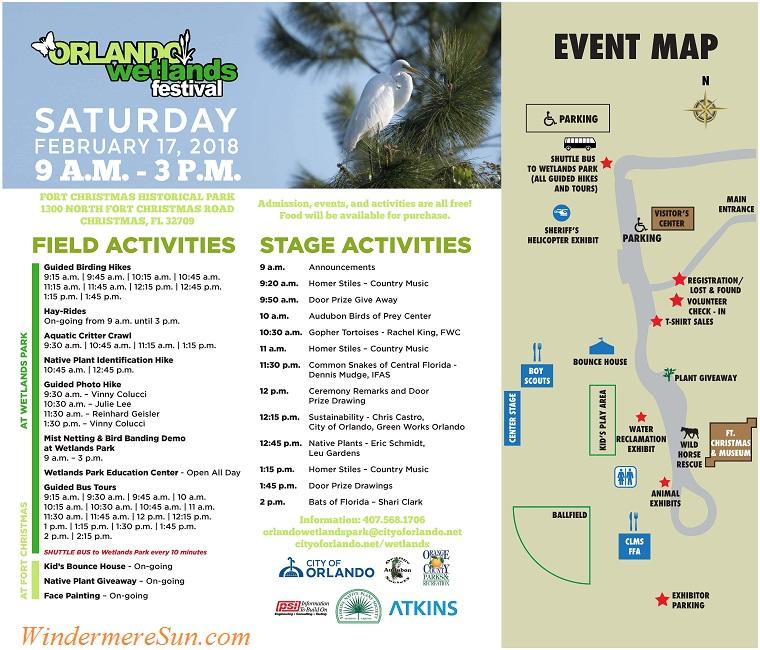 Orlando Wetlands Festival 2018 activities final