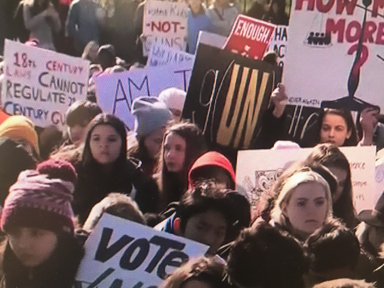 Students at March for Our Lives 2018 final