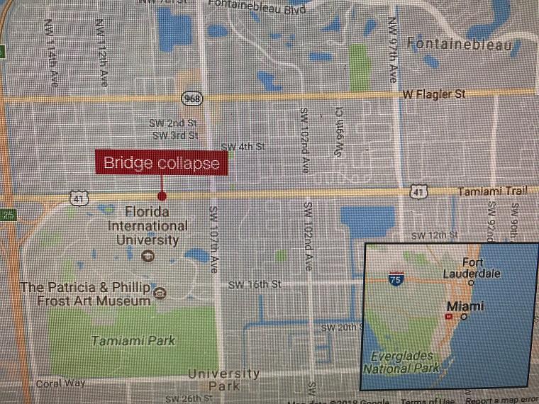 map where the bridge collpased final