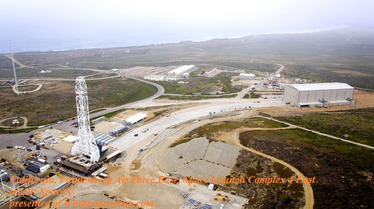 CA vandenberg air force base, space launch complex 4 east final