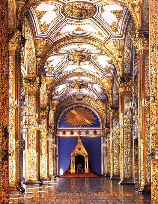 Kremlin, Andreyevsky_Zal, The Hall of the Order of St. Andrew in the Grand Kremlin Palace, PD final