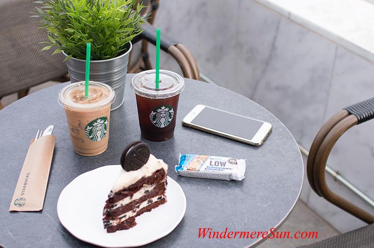 Starbucks coffee and cake final
