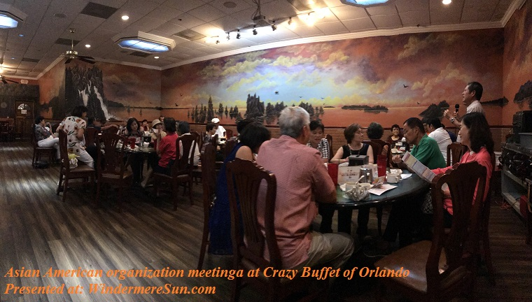 Asian American organization meeting at Crazy Buffet of Orlando, semi-panamaic, final