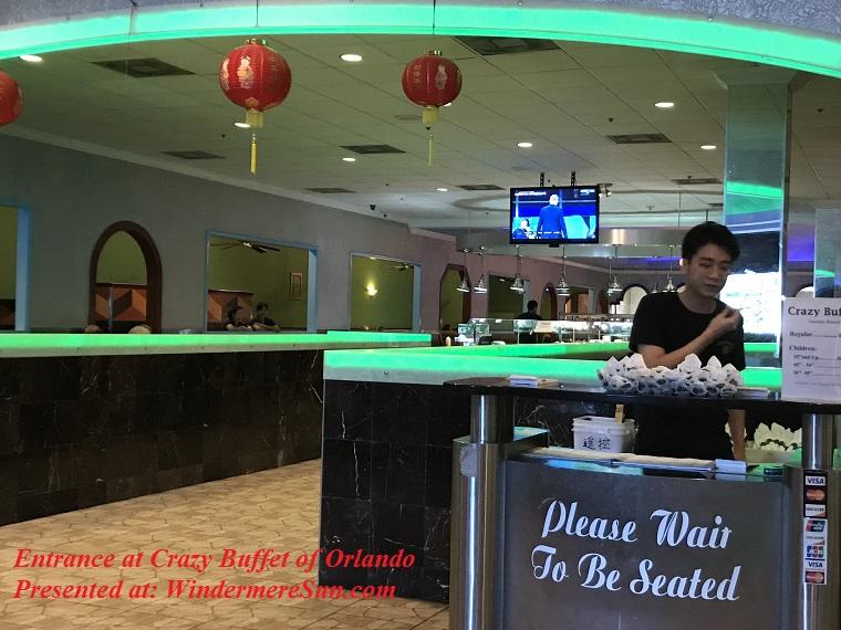 Entrance at Crazy Buffet of Orlando final