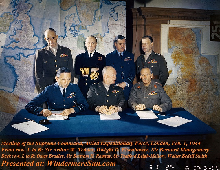 WWII, D-Day, Meeting_of_the_Supreme_Command,_Allied_Expeditionary_Force,_London,_1_February_1944_TR1631 final