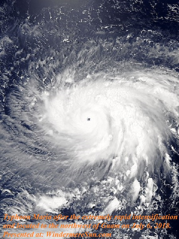 Typhoon Maria after the extremely rapid intensification and located to the northwest of Guam on July 6, 2018.-2 final