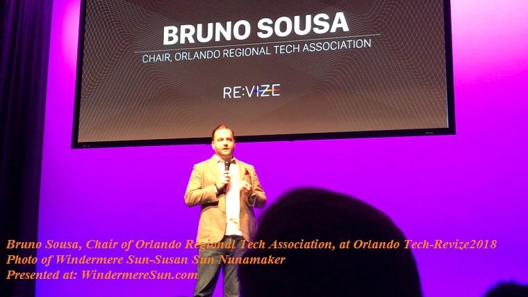 Bruno Sousa, Chair of Orlando Regional Tech Association at Orlando Tech-Revize2018 final