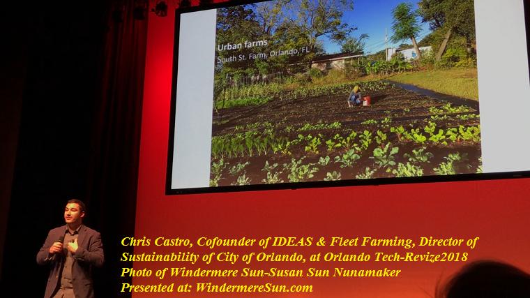 Chris Castro, Cofounder of IDEAS and Fleet Farming, Director of Sustainability of City of Orlando, at Orlando Tech-Revize2018 final