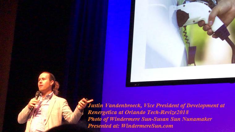 Justin Vandenbroeck, Vice President of Development at Renergetica at Orlando Tech-Revize2018 final
