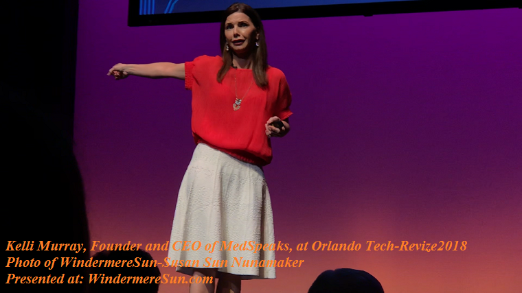 Kelli Murray, Founder and CEO of MedSpeaks, at Orlando Tech-Revize2018 final