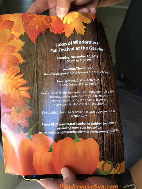 Lakes of Windermere Fall Festival 2018 final