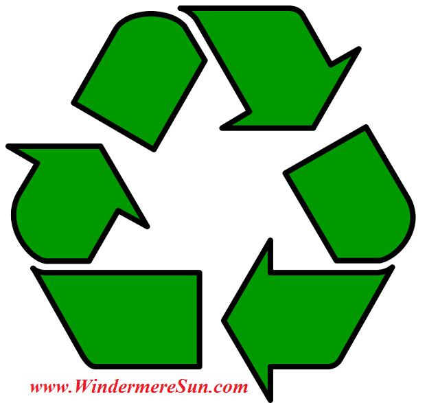 Recycling symbol public domain final