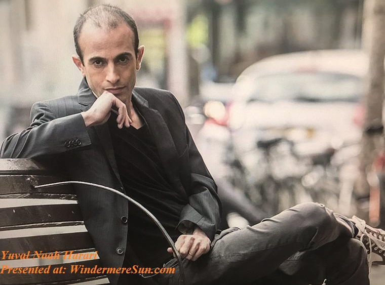 Yuval Noah Harari sitting on the bench final