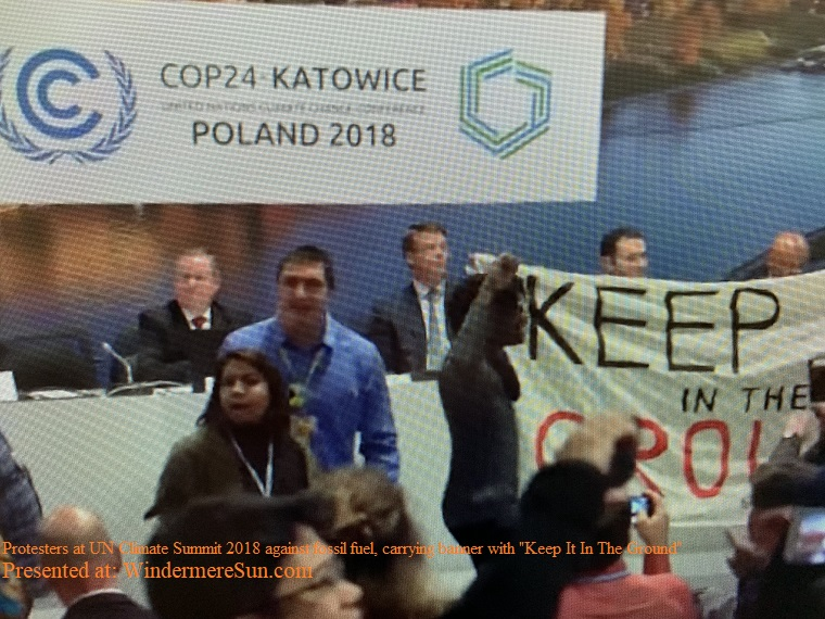 Protesters at the UN Climate Summit 2018, Keep It In The Ground final