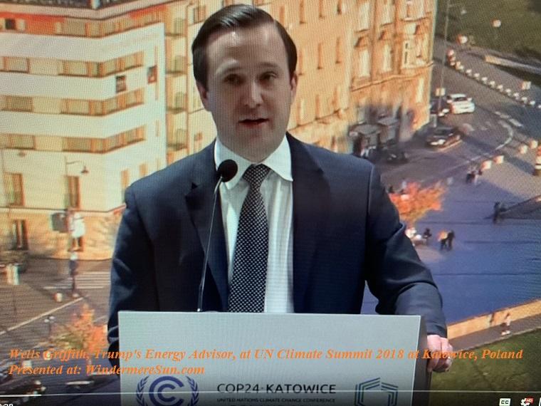Wells Griffith, Trump's Energy Advisor, at UN Climate Summit 2018 final