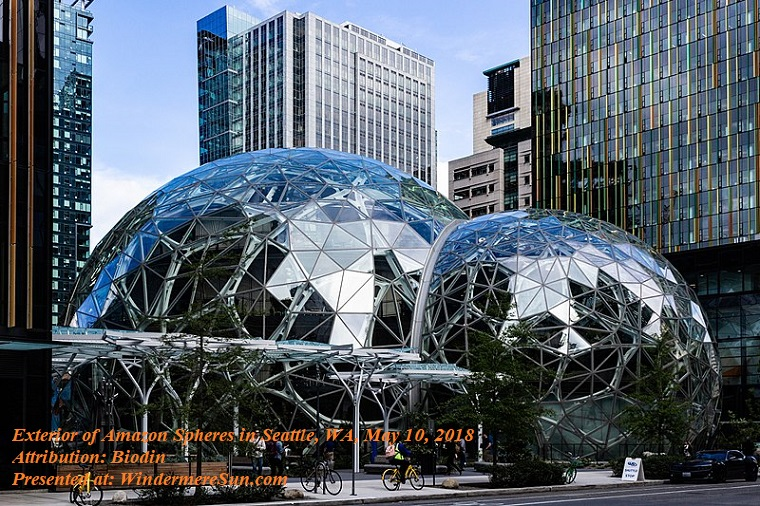 Amazon, exterior of Seattle_Spheres_on_May_10,_2018, attribution-Biodin final