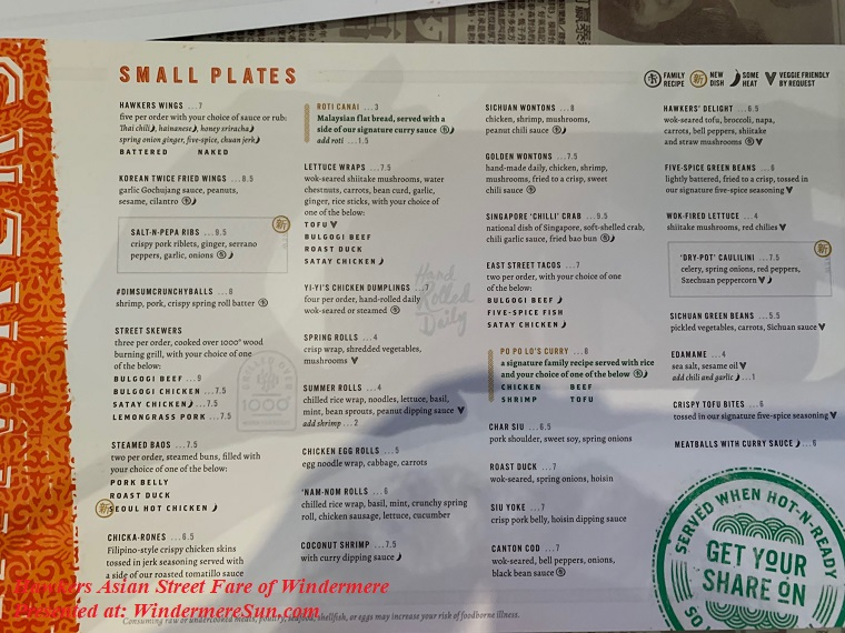 Hawkers' menu-small plates final