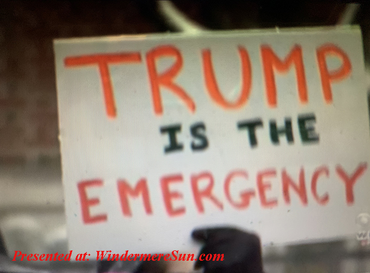 Trump is the emergency final