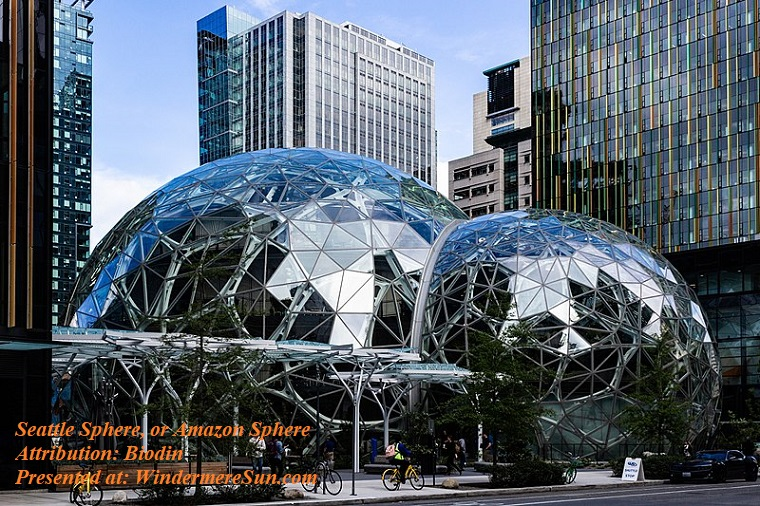 Amazon sphere, Seattle Spheres on May 10,2018, attributioin- Biodin final