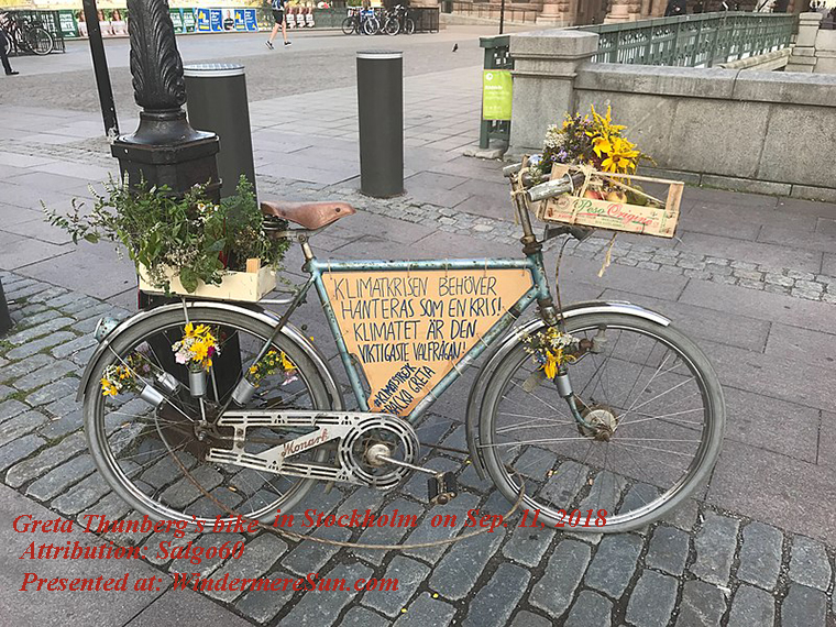 Greta Thuberg's bike at Old_town_Stockholm final