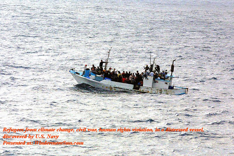 Climate Refugees_on_a_boat, discovered by U.S. Navy, PD final