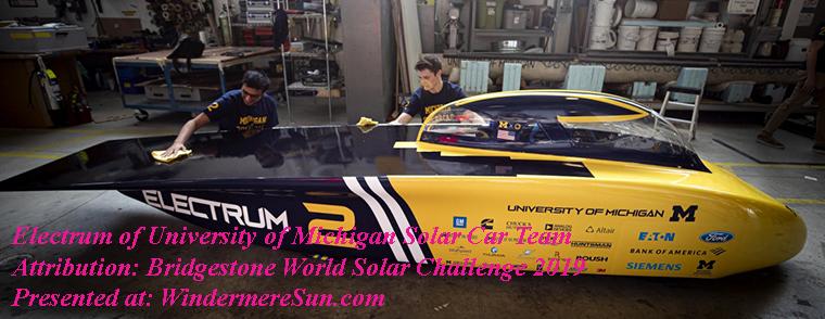 World Solar Challenge 2019-UM Electrum final